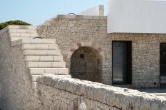 rivestimento in pietra a secco, scala in pietra
